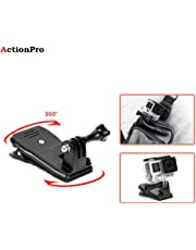 Action Pro 360° Rotary Backpack Hat Rec-Mounts Clip Clamp Mount + Screw for SJCAM, Yi, GoPro Hero 2 3 4 5