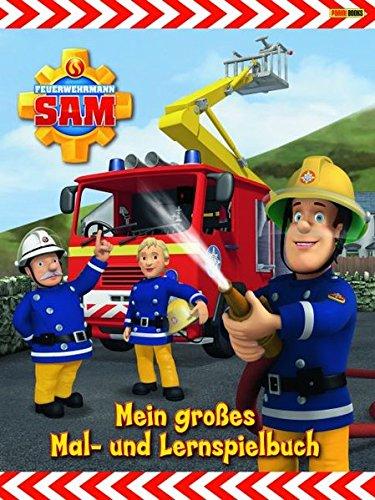 Feuerwehrmann Sam Malbuch: Mein großes Mal- und Lernspielbuch -