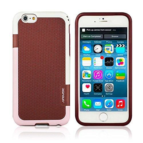 Diginova Coque iPhone 611,9cm Coque arrière hybride en caoutchouc souple TPU Coque bumper Protection d'écran de protection 7 - Burgundy / Beige / Light Pink