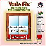 Vario-Fix Standard Haltebügel für 12cm Blumenkasten mit 115cm Spannstange