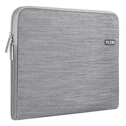 PLEMO Sleeve Case per Laptop/ Borsa per PC Portatili/ Custodia Morbide/ Ventiquattrore Cartella Involucro per Notebook/ MacBook/ MacBook Pro Tessuto Denim da 13-13.3 Pollici, Grigio