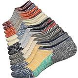 6 Paires Homme Chaussettes Patchwork Antiglisse des Chaussettes Décontractées