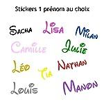 Stickers mural prénom disney. Décoration mur chambre enfant/bébé. 14 couleurs au choix.