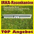 Rasenkante breit 14 cm hoch, 100 cm lang mit Klick-Fix-System von C&C Gartenbedarf - Du und dein Garten
