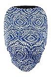 Leboha Stretchy Ultrasoft Organic Cotton Multi Use Carseat/Nursing Cover (Blue Shibori)