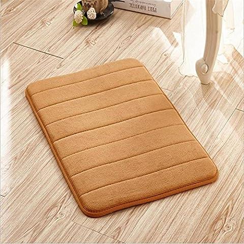 FFJTS kaki Velluto Corallo Memory tapis antidérapant moelleux moelleux confortable moderne Top qualité simple chambre à coucher salon porte tapis , 160*230cm