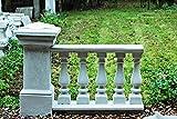 Balustrade aus Steinguss / weiß (K1), komplett, Länge: 135 cm, Höhe: 88 cm / 75 cm, Gewicht: 250 kg