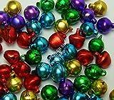 100 Glöckchen Glocken Schellen 10mm mit Öse Mix Farbe Bunter Basteln M168