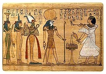 Adesivo con motivo re Ra dell'antico Egitto, effetto carta di papiro