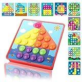 NextX Gioco Bottoni Puzzle a Forma Cappello dei Funghi – Puzzle 3D a Chiodini per Apprendimento Prescolare – Giocattolo Educativo Prima Infanzia – Regalo Ottimo per Bambini 3+ Anni