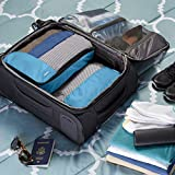 AmazonBasics Kleidertaschen-Set, 4-teilig, 2 mittelgroße und 2 große Kleidertaschen, Himmelblau - 7