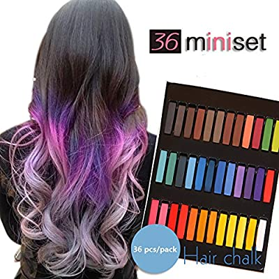 Temporary Hair Dye Color Non-Toxic Soft Pastels Chalk Colourful Hair Chalk Pens. Temporary Colour for Girls for All Ages. Makes a Great Birthday Gift