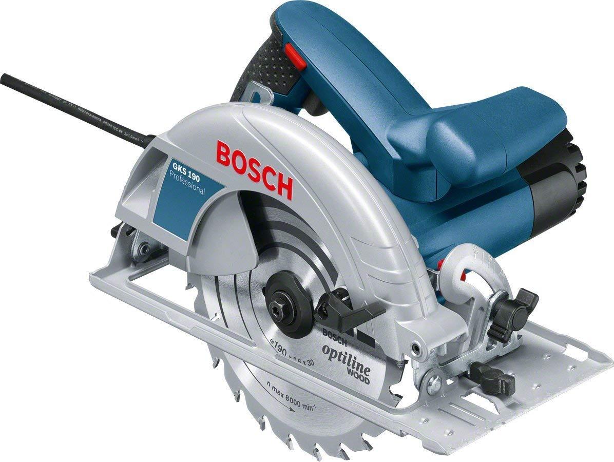 Bosch Professional GKS 190 Handkreissäge (1400 Watt, Kreissägeblatt: 190 mm, Schnitttiefe: 70 mm, in Karton)