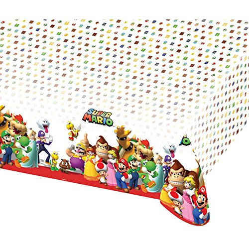 NEU Tischdecke Super Mario, 120 x 180 (Mario Kostüm Toad)