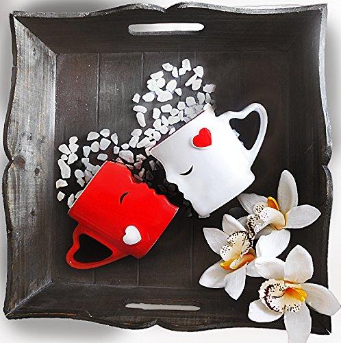 Mia ♥ Mio – Tazza da caffè/Set Bacio Tazze in Ceramica (Rosso) - 2