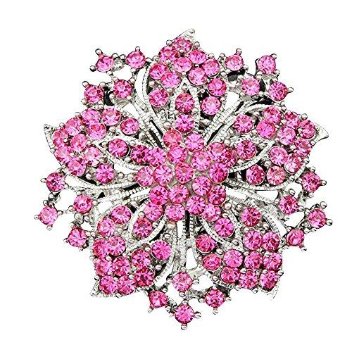contever-gioielli-di-moda-fantasia-strass-bling-cristallo-bauhinia-fiore-grappolo-spilla-perno-rosso