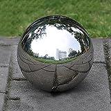 Prokth Spiegelkugel aus 304er-Edelstahl, schwimmende Hohlkugel für den Teich, Dekoration für Heim und Garten, edelstahl, silber, 300 mm