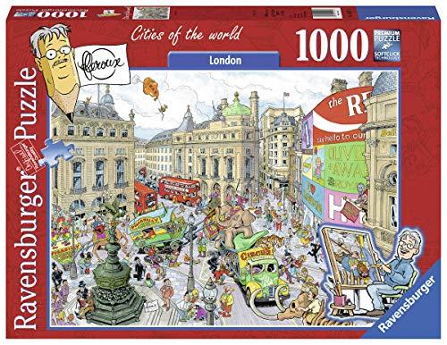 Ravensburger Tula Moon: London 1000pieza(s) - Rompecabezas (Jigsaw puzzle, 14 año(s), 700 mm, 500 mm, 1000 pieza(s))