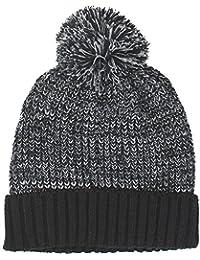 TeddyT's Men's Contrast Knit Winter Bobble Hat