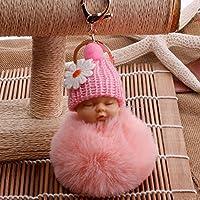 Jouet Un joli cadeau de de de décoration en peluche Sac à main sac à main voiture en peluche bébé porte-clés pendentif trousseau fille cadeau (Couleur : Pink, Taille : 8cm) 299e05