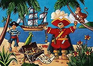 Puzzle con marco, 32 piezas (7220) 7220 - Puzzle Silueta el Pirata, Juguete Puzzle A Partir de 4 años