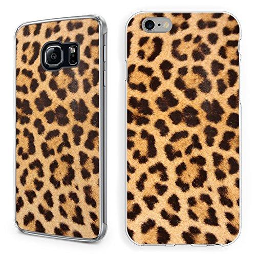Handyhülle Tiermuster für Samsung Hardcase Leopard Zebra Schlange Feder Fell, Kompatibel mit Handy:Samsung Galaxy S8 Plus, Hüllendesign:Design 2 | Hardcase Klar - Plus Leopard