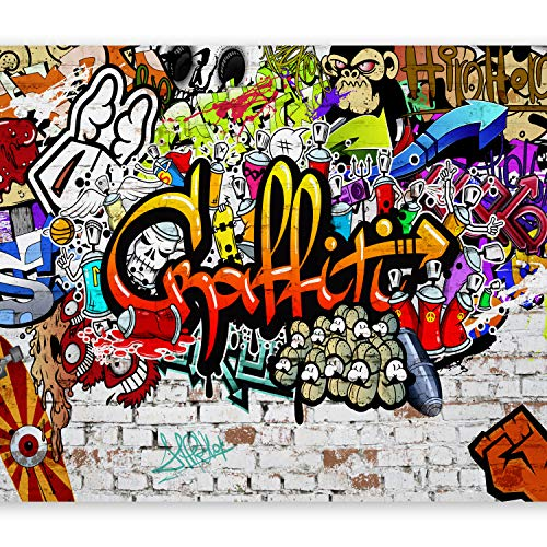 murando - Fototapete 350x256 cm - Vlies Tapete - Moderne Wanddeko - Design Tapete - Wandtapete - Wand Dekoration - Graffiti Streetart f-A-0348-a-b