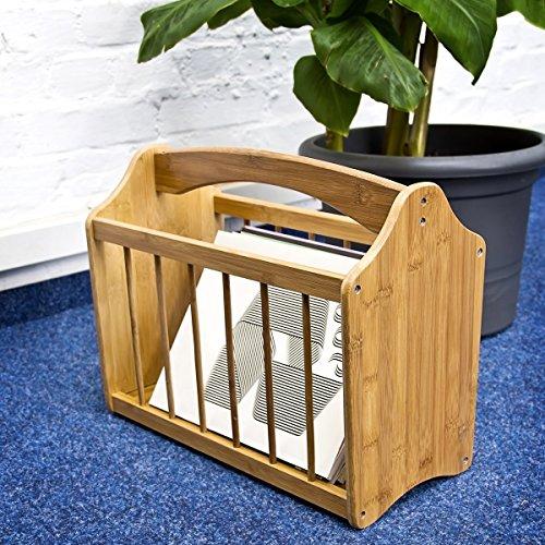 mq bambus zeitungsst nder zeitungshalter zeitschriften ablage st nder halter holz homezon. Black Bedroom Furniture Sets. Home Design Ideas