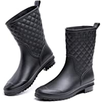 Stivali Pioggia Donna Stivaletti Gomma Giardini Chelsea Bassi Lavoro Antiscivolo Ankle Boots Nero Blu Marrone Cachi…