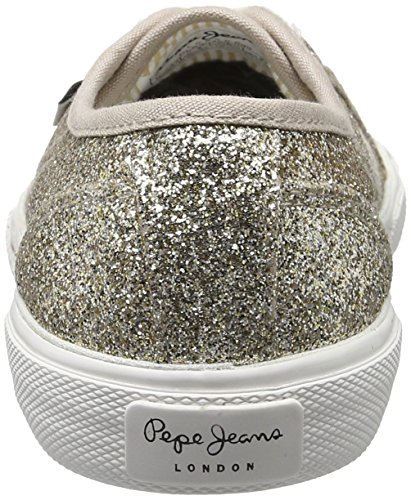 Pepe Jeans Aberlady Flash, Sneakers Basses Femme Or (Gold)
