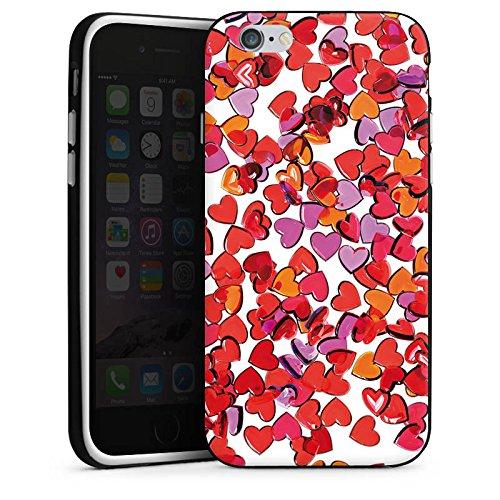 Apple iPhone X Silikon Hülle Case Schutzhülle Liebe Herz Muster Silikon Case schwarz / weiß
