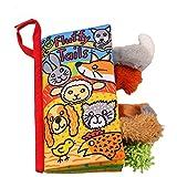 Sunenjoy Animal Queues Tissu Doux Livre pour Bébés Activité Pli Livres, Main Apprentissage Éducation Jouets pour bébé, 3-12 mois, Interactive Garçon Fille, Cadeau Boîte Développement Livres (C)