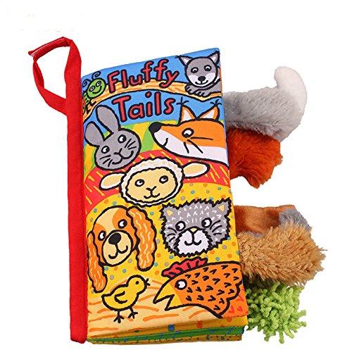 Sunenjoy Animal Queues Tissu Doux Livre pour Bébés Activité Pli Livres, Main Apprentissage Éducation Jouets pour bébé, 3-12 mois, Interactive Garçon Fille, Cadeau Boîte Développement Livres (