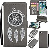 Coque iphone 6 / 6S, Meet de [Paillettes Campanula gaufrée] Design Etui Housse Cuir PU Portefeuille Folio Flip Case Cover Wallet Coque Protection Étui avec Stand Support Avec des Cartes de Crédit Slot et Fonction Support pour iphone 6 / 6S