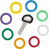 Uniclife 36 STKS Sleutel Caps Covers Tags, Plastic Sleutel Identificatie Codering Ringen in 9 Verschillende Kleuren