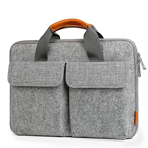 "Inateck 13""-13,3\"" Laptop-Hülle, Tasche, Filz Aktentasche kompatibel mit MacBook Air/MacBook Pro 2012-2016/2017/2018/12,3 Zoll Surface Pro 2017/6/4/3/Surface Laptop 2017/Surface Laptop2"