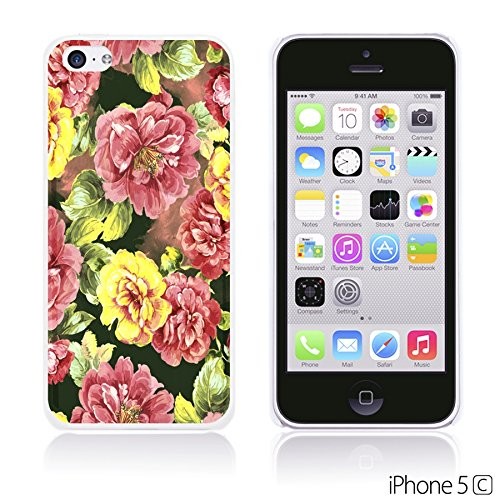 OBiDi - Flower Pattern Hardback Case / Housse pour Apple iPhone 5C - Colorful Floral Art Paint Red Roses
