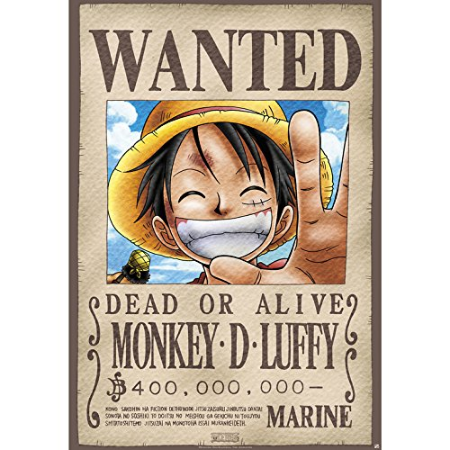Grupo Erik Editores Poster One Piece Wanted Luffy
