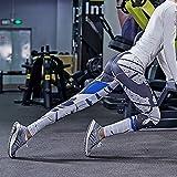 JIALELE Pantalon De Yoga Pantalon De Yoga De Sport Pantalons De Yoga Sports Hauteur Réparation Vidéo Pop De L'Encre Noire À Séchage Rapide Mince De Timbres,XL