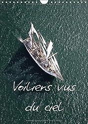 Voiliers vus du ciel : Photos aériennes d'anciens voiliers. Calendrier mural A4 vertical 2017