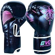 Evo Fitness Ladies GEL Rex - Boxhandschuhe aus Leder für Damen - geeignet für Punching Übungungen und alle gängigen Kampfsportarten - MMA Muay Thai Kick Boxing