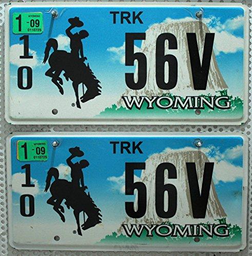 US Nummernschilder WYOMING Kennzeichen PAAR # License Plates Pair # KFZ Schilder USA
