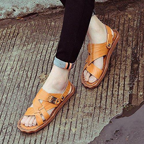 Leder Sandaletten,Sandalen,Herrenschuhe,Schuhe der jungen Männer US7/EU39/UK6/CN39