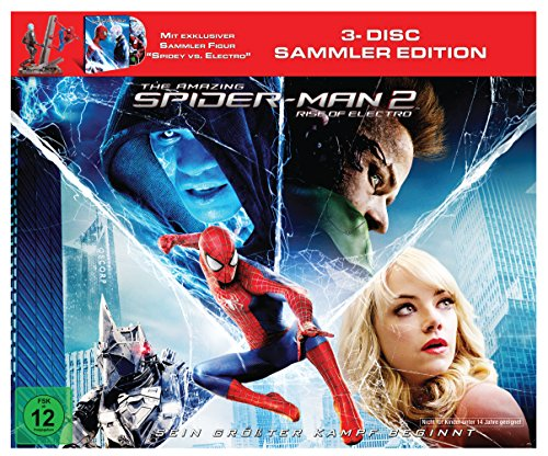 The Amazing Spider-Man 2: Rise of Electro (Figur Spidey vs. Electro +Blu-ray  und Bonus-Blu-ray) (Amazing Spiderman 2 Electro)
