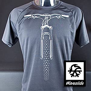 Funktions-Sport-T-Shirt Mountainbike MTB Fahrrad Bike Illustration von Waveslide