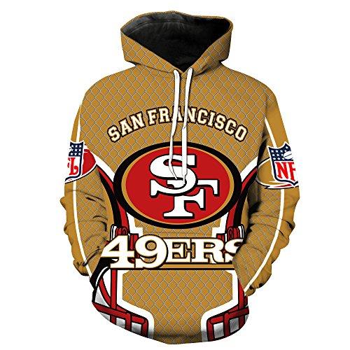 NFL San Francisco 49ers Fußballmannschaft 3D Hoodie Pullover Outdoor-Sport Casual Männer Und Frauen S-5XL