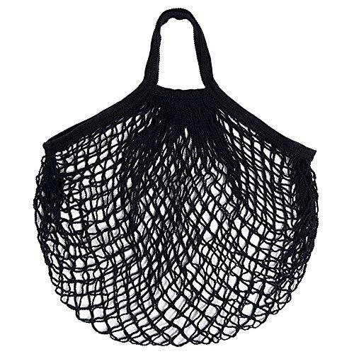 Pnizun - Mesh-Net Turtle Bag-Schnur-Beutel Einkaufswiederverwendbare Obst Net Schulter Lagerung Handtaschetotes- New Grocery Shopper Hause Aufbewahrungsbeutel [Schwarz ] -
