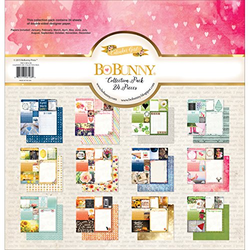 Bo Bunny 12x12 Paper (Bo Bunny BoBunny Collection Pack 12Zoll x 12Zoll über Kalender, Januar Dezember, Acryl, mehrfarbig)