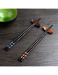 2 Paar Set Essstäbchen Japanische Natur Chopsticks aus umweltfreundlichem hölzernen in edler Schatulle Geschenkbox