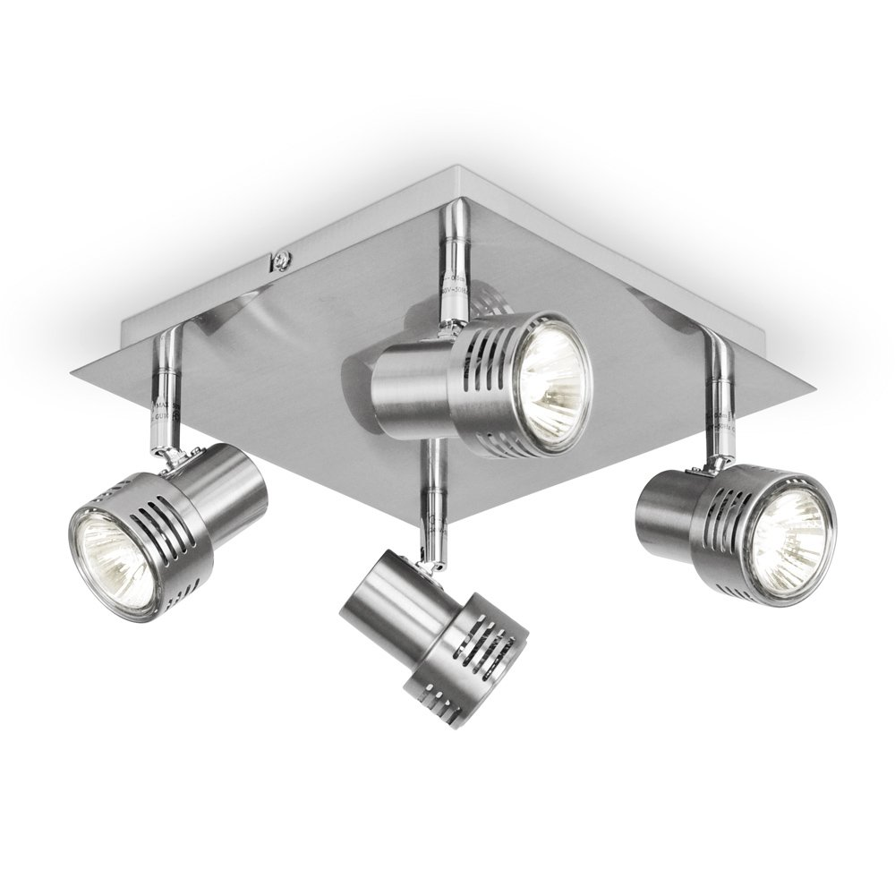 Modern chrome 4 way gu10 square ceiling spotlight amazon modern chrome 4 way gu10 square ceiling spotlight amazon lighting mozeypictures Images